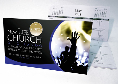 Church Calendar Design.Churches