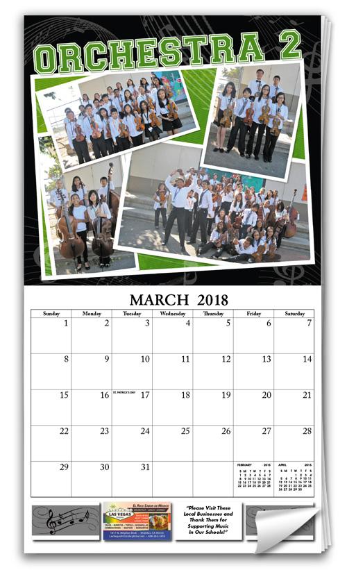 modern pictorial calendar